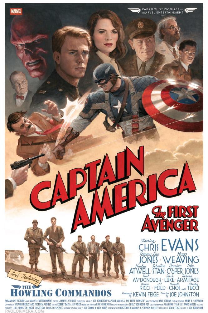captainamericaretroposter