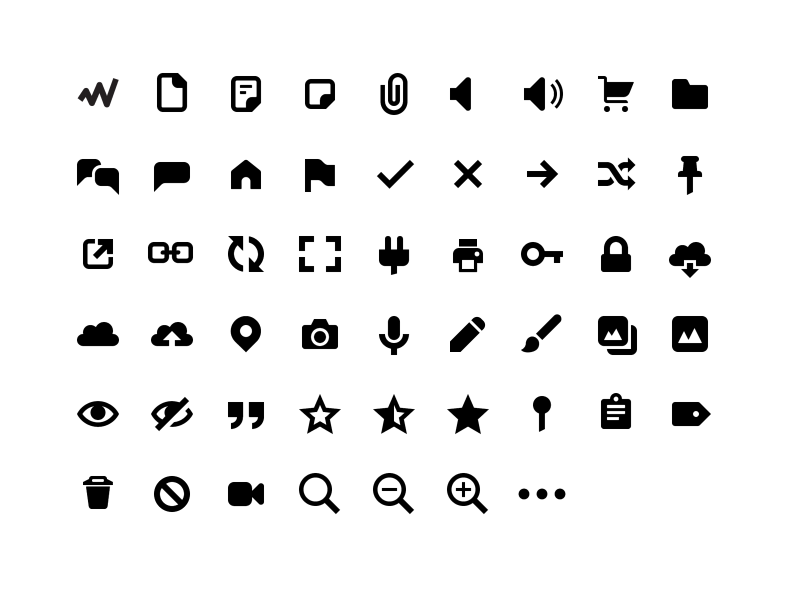 icon fonts – Mocco